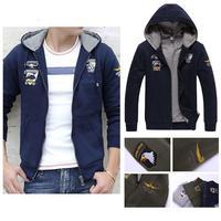 2014 Men Brand Air Force military Hoody Jacket Hoodies & Sweatshirt Printed Assassins Creed Tracksuit Cardigan Sweatshirt