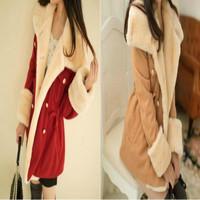 women winter warm coats women wool slim double breasted wool coat winter jacket women fur women's coat jackets