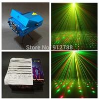 1pcs/lot RGB mini stage sound/auto controled party stroboflash holographic lighting ktv dj disco laser projector stroboscopic