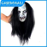 30Pcs/Lot Novelty Prop Artificial Hair Rubber Cap Sadako Horror Mask Halloween Scary Costume Cosplay Party Masquerade Mask