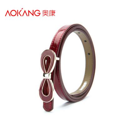 2014 Famous brand desigual belts for women Red Butterfly buckle Bow Knot women leather belt waist straps 90-110cm cinto feminino