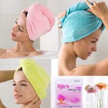 Coral velvet Magic Hair Dry Drying Turban Wrap Ultra thick Towel/Hat/Cap 66*25 plus Bath Lady Magic Hair Drying  Quick Dry Bath(China (Mainland))