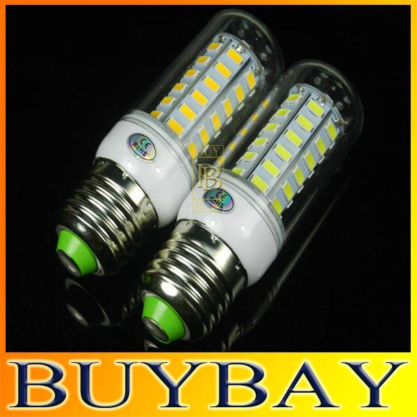Newest 56LED SMD 5730 20W E27 led bulb light 220V/110V Warm White/ white,5730 chandelier ,candle corn lamp,5pcs/lot(China (Mainland))