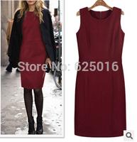 2014 new fashion autumn winter ladies dress black Slim Bandage vestidos dresses sexy Party Bodycon Dress for women