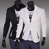 Free Shipping 2014 New Hot Fashion suits Mens casual Stunning slim fit Jacket Blazer Three-dimensional  pocket design Coat SU80