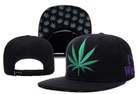 4 Colors 2014 Hot Sale Fashion New DGK Embroidery Weed Leaf Snapbacks Hip-Hop Hats Adjustable Baseball Caps for Men and Women