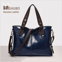 SHUBO Famous Brands Bags 2014 Women Messenger Handbag Fashion Genuine Leather Bag Potrable Shoulder Bag Crossbody Bolsas SH080
