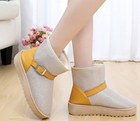 2014 NEW Buckled Fashion boot for Winter Warm Women snow boots & Black,Green,Beige