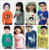 T-shirts For Boy Children 2014 New Fashion Autumn Winter Kids Clothes Girls Long Sleeve T Shirt Baby Boy Cartoon Cotton Shirts