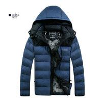 2014 Winter New Men'S Brand Jackets Men'S Fashion Thick Hooded Natural Fur Down Jacket Men Long Paragraph  90% Down Coat B41
