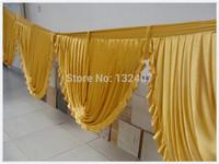 swag for 3m x 6m   white Silk Wedding Backdrop   /wedding  backdrop  drapes curtain