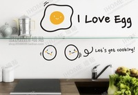 Free shipping 30x25cm Lovely Eggs Removable DIY  Kitchen wall decals decorative adesivo de parede vinyl wall stickers