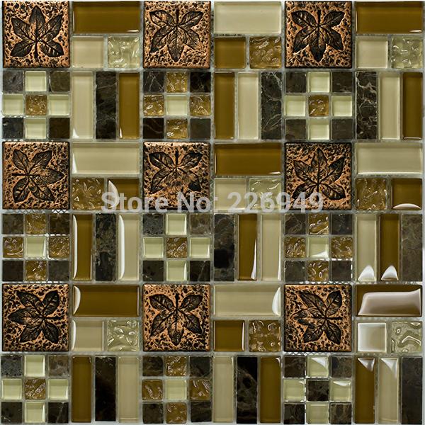 2014 nova tendência clássico estilo de vidro resina cerâmica TV fundo da telha de mosaico(China (Mainland))