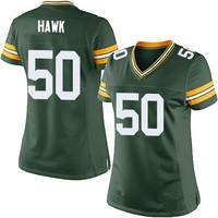 A.J. Hawk Jersey Cheap Green Bay Football Jerseys #50 Women's A.J. Hawk Elite Green Team Color Home Jersey