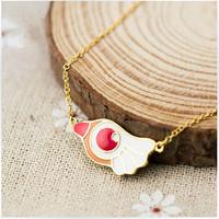 CARDCAPTOR SAKURA cosplay Cartoon props bird necklace gold necklaces,  free shipping