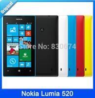 "Original phone Nokia Lumia 520 cell phone Dual core 8GB ROM 5MP GPS Wifi 4.0"" IPS unlocked windows phone"