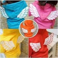 Retail 2014 New Arrival Children Set Baby Girls Boys Spring Autumn 2 pcs Set Angel Wing Hoodies Sweater Coat+Pants suit