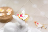 cosplay sailor moon bird rings lady gold ring, free shipping