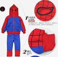 Spiderman Children Clothing suits set boys spider-man sports hoodie jacket + pants kids Sweatshirt trousers Autumn clothing