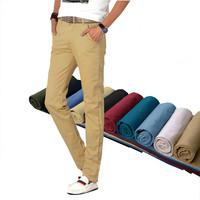 Men pants 2014 Men's Cotton cargo Straight Slim Fit Casual trousers men Designed pants male 8 colors plus big size M15047