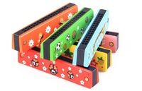 Baby music toys Wooden  harmonica Educational  toy children music toy for children baby gift free shipping