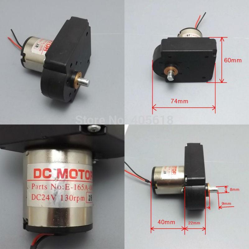 2PCs DC gear motor 7 font DC hand generator 6V 12V 24V 10W 500mA Low speed dc motor(Hong Kong)
