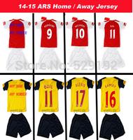 custom !2015 Football Kids ALEXIS OZIL WILSHERE RAMSEY GIROUD CAZORLA WALCOTT 14 15 Best Kids