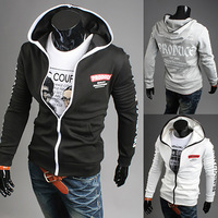 Free Shipping 2014 New Men's Fashion Sports Hoodies Sweatshirts,Top Brand Men's Clothing.Cotton,Korean Slim Style WY34