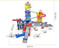 Wholesale parking lot assembled puzzle rail toy international aviation center of gifts for children hotsale