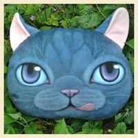 38*36CM Deep Blue New!!! Deep Design Cute Cat  pillow Case Creative Soft Home Pillow Decoration Cotton Cushion Covers  A0100