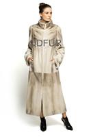 New Style Winter Elegant Ladies' Genuine Real Mink Fur Coat Jacket Female Fur Outerwear Garment QD70815