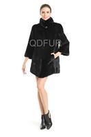 New Style Winter Fashion Women's Genuine Natural Mink Fur Coat Jacket Female Fur Outerwear Garment QD70813