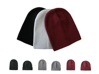 3 Colors Factory Sell Men's Knitted Hats Winter Women's hats Beanies For Men skullies Solid color Grey Double thick Winter hats