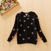 2014 Autumn Winter Kids Brand Sweater 2-7 Years Old Children Diamond Zipper Girls Cardigan sweaters