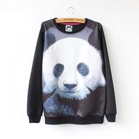 Cotton Panda Hoodies Sweatshirt Women Loose Casual Pullovers Sport Coat Ladies Sweater Jacket 158