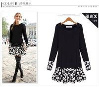 Dropshipping!2014 EUROPE plus size women dress Fat MM Loose winter dress casual dress