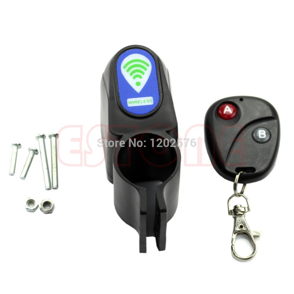A96 Free Shipping Lock Bicycle Cycling Security Wireless Remote Control Vibration Alarm Anti-theft(China (Mainland))