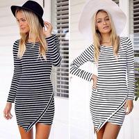 vestidos femininos verao festa curto sexy 2014 new ladies dress summer mini casual striped dresses free shipping