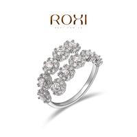 ROXI Fashion Accessories Gold Plt Austria Crystal CZ Diamond Sweet Cucurbit Pattern Open End Wedding Rings Love Gift for Women