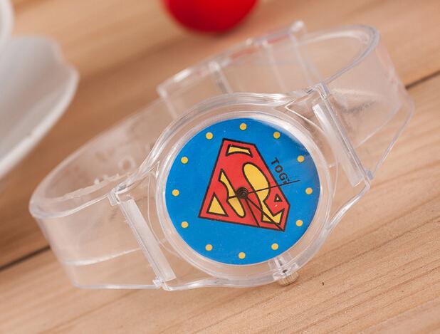 New Arrival Cheap Super Man Batman Heart Flower Pattern Children Watches Fashion Kids Wristwatch for Gift