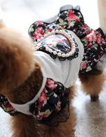 Parfait factory direct wholesale pet supplies Big flower pearl love skirts pet pet dog wedding dress