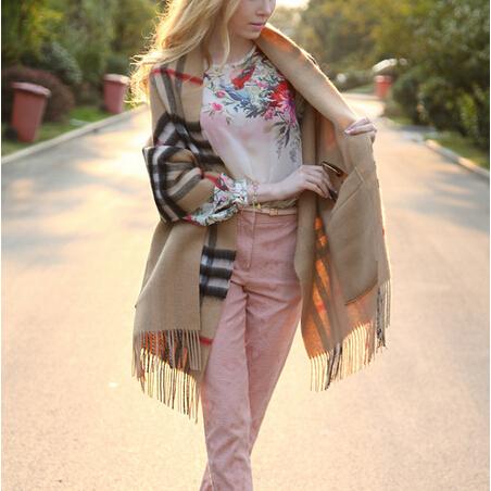 Best Selling 2014 Women Winter Scarf British Style Plaid Pashmina Shawls Fashion Brand Scarf Spain Desigual Scarf Women Scarves(China (Mainland))