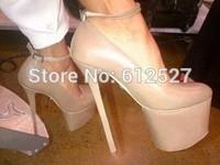 sexy 16cm platform ankle strap high heels for women stiletto fashion women pumps
