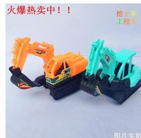 Inertial excavator children toy gift wholesale excavator model