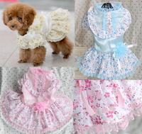 Wholesale pet supplies , pet dress , Pet clothing , dog dress , floral princess dress