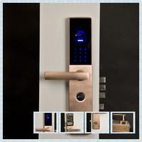 Intelligent fingerprint door lock, high security, password, fingerprint, keys,factory directly sell, stainless stell