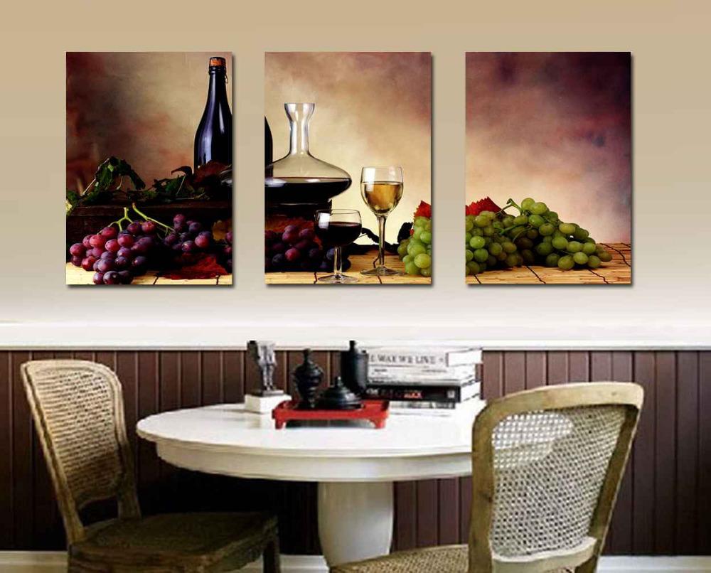 Wanddecoratie Voor Keuken : Kitchen Wall Art Wine Grapes