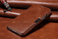 ICARER Vintage Series Luxury Cowhide Genuine Leather Flip Cover Case with Card Slot For Samsung Galaxy S5 i9600