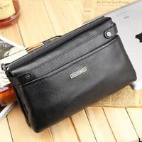 New High Quality Men's Wallets Passport Covers Genuine Leather Wallet Clutch Purse Men Zipper Bag Men Leather Handbag 512893