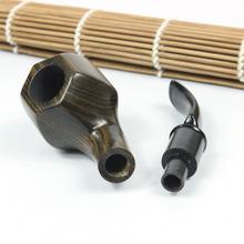 Hot Sale Fashion New Ebony Wooden Smoking Pipe Bent Type Handmade Tobacco Smoking Pipes FUTING 1320